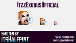 ItzzExodusOfficial | Twitch Emotes | Cute Emotes | Custom Twitch Emotes | Emote Commissions | itsHal