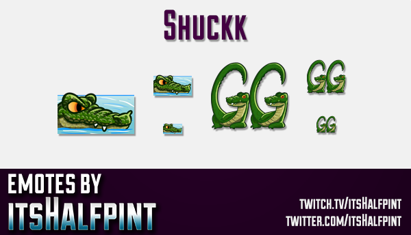 Shuckk | Twitch Emotes | Cute Emotes | Custom Twitch Emotes | Emote Commissions | itsHalfpint | Mixe