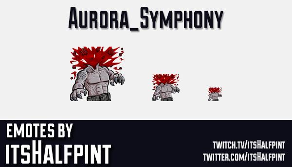 Aurora_Symphony | Twitch Emotes | Cute Emotes | Emote Artist | itsHalfpint