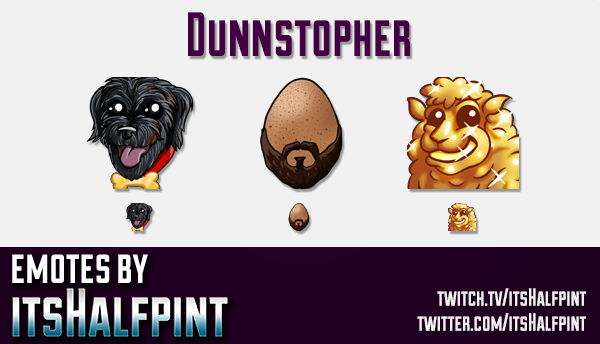 Dunnstopher  | Twitch Emotes | Cute Emotes | Custom Twitch Emotes | Emote Commissions | itsHalfpint