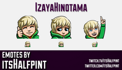IzayaHinotama | Twitch Emotes | Cute Emotes | Custom Twitch Emotes | Emote Commissions | itsHalfpint