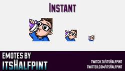 Instant  | Twitch Emotes | Cute Emotes | Custom Twitch Emotes | Emote Commissions | itsHalfpint | Mi