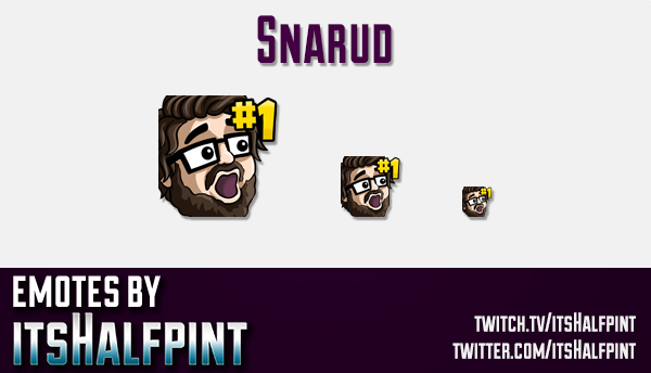 Snarud | Twitch Emotes | Cute Emotes | Custom Twitch Emotes | Emote Commissions | itsHalfpint | Mixe