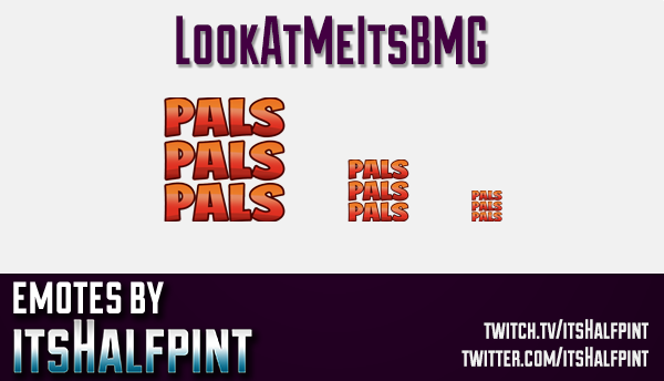 BMG  | Twitch Emotes | Cute Emotes | Custom Twitch Emotes | Emote Commissions | itsHalfpint | Mixer