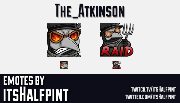 The_Atkinson | Twitch Emotes | Cute | Custom | Commissions | itsHalfpint