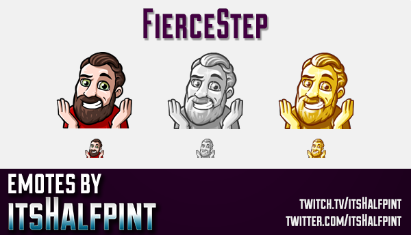 FierceStep  | Twitch Emotes | Cute Emotes | Custom Twitch Emotes | Emote Commissions | itsHalfpint |