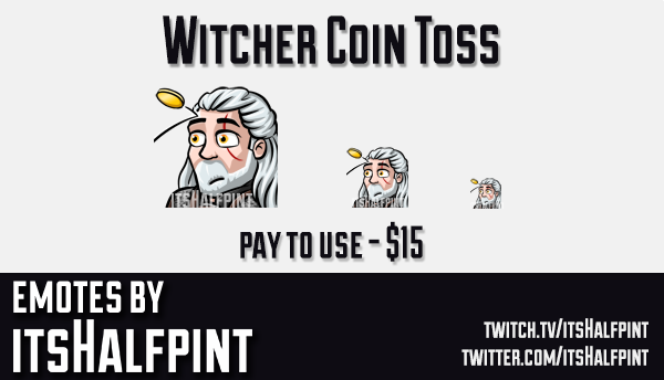 TheWitcher  | Twitch Emotes | Cute Emotes | Custom Twitch Emotes | Emote Commissions | itsHalfpint |