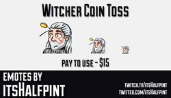 TheWitcher  | Twitch Emotes | Cute Emotes | Custom Twitch Emotes | Emote Commissions | itsHalfpint |