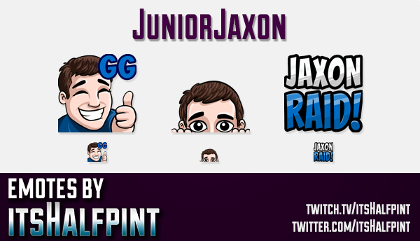 JuniorJaxon  | Twitch Emotes | Cute Emotes | Custom Twitch Emotes | Emote Commissions | itsHalfpint
