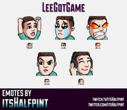 LeeGotGame  | Twitch Emotes | Cute Emotes | Custom Twitch Emotes | Emote Commissions | itsHalfpint |