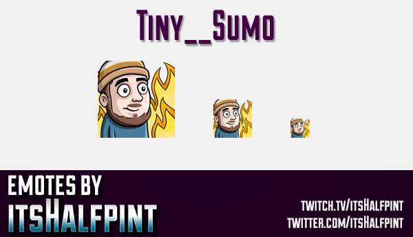 Tiny__Sumo | Twitch Emotes | Cute Emotes | Custom Twitch Emotes | Emote Commissions | itsHalfpint |