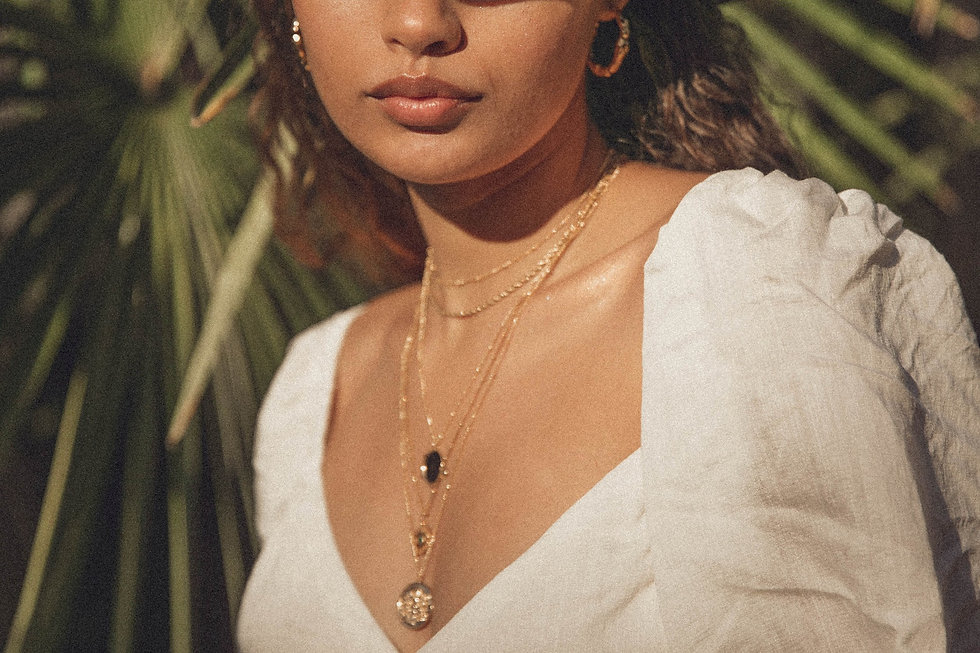 gold necklace/layered necklaces