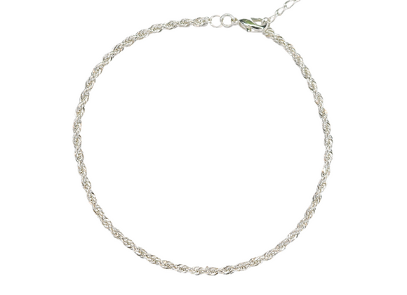 TERRA SILVER ROPE ANKLET