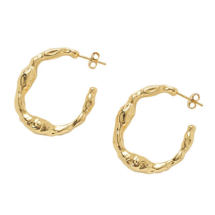 TERRA GOLD HAMMERED HOOPS
