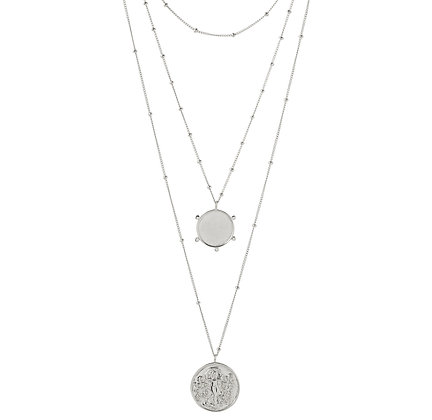 COIN LAYER NECKLACE RECYCLED SILVER