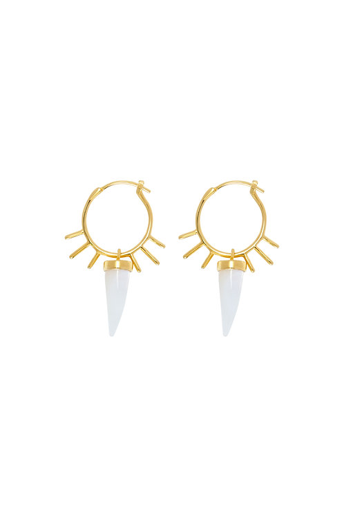 GOLD SPIKE STACKING HOOPS
