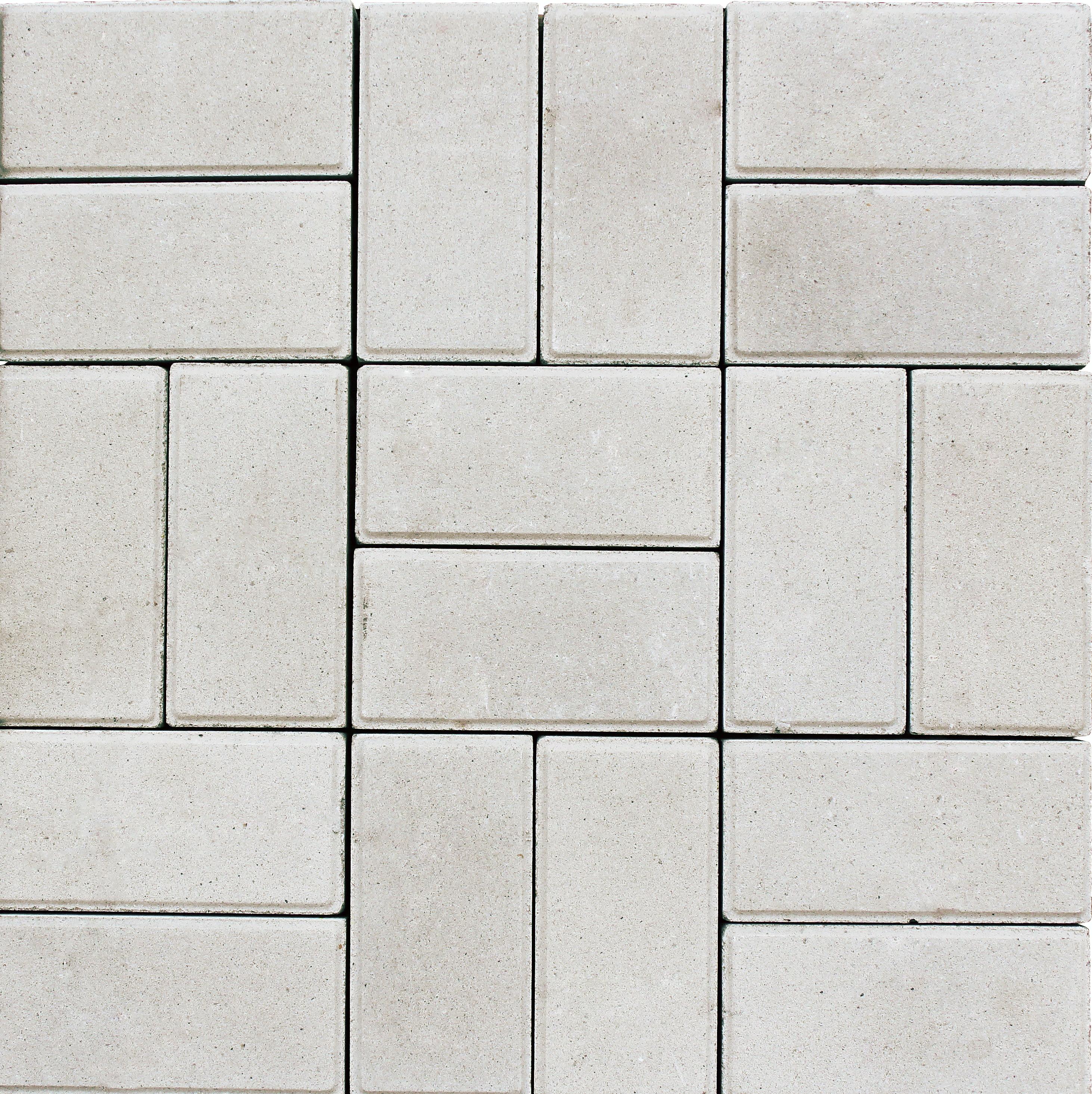 Тротуарная плитка кирпичик белая