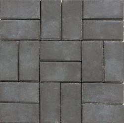 Тротуарная плитка графит кирпичик