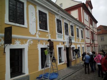 Čištění a oprava historické fasády