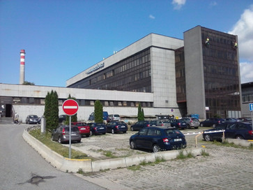Mytí budovy železniční stanice Praha-Holešovice
