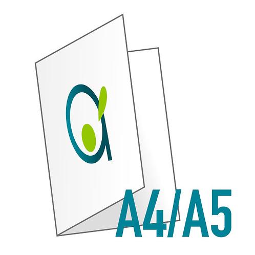 Dépliant (plié en 2) - Ouvert A4, fermé A5