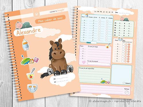 Cahier de suivi pour bébé - Cheval