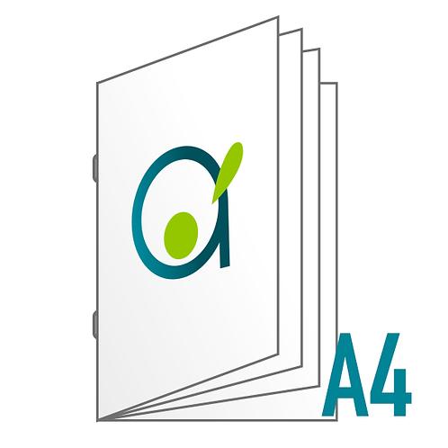 Brochure A4 (reliure agrafée) - 8, 12, 16 ou 20 pages