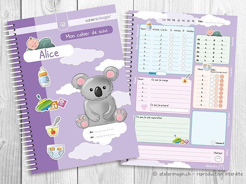 Cahier de suivi pour bébé - Koala