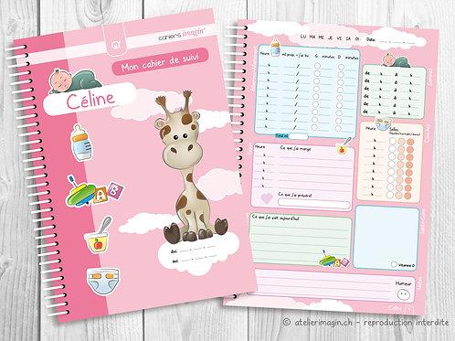 Cahier de suivi pour bébé - Girafe