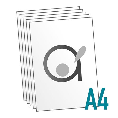 Impression standard A4 en Noir