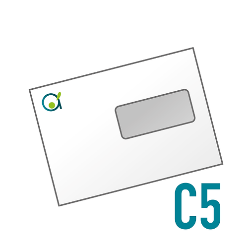 C5 à fenêtre, impression en Couleurs