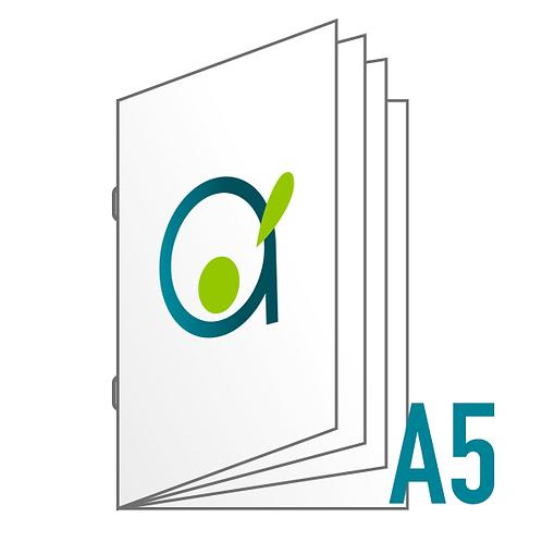 Brochure A5 (reliure agrafée) - 8, 12, 16 ou 20 pages