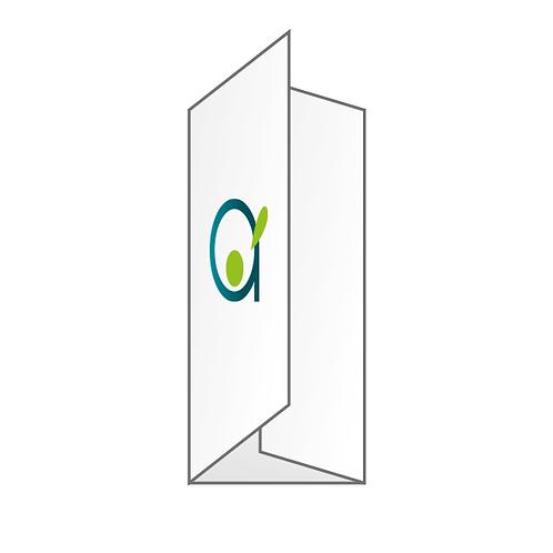 Dépliant (pli portefeuille) - Ouvert A4, fermé 99x210 mm