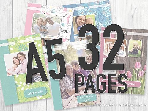 Cahier de notes A5 - 32 pages (reliure agrafée)