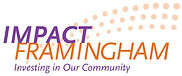 "Impact Framingham logo with the tagline ""Investing in Our Community"""