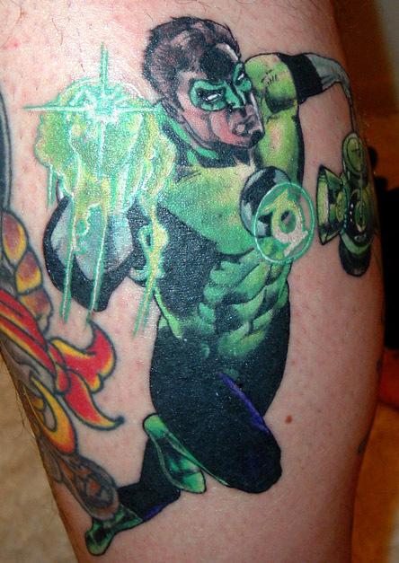 Green lantern tattoo