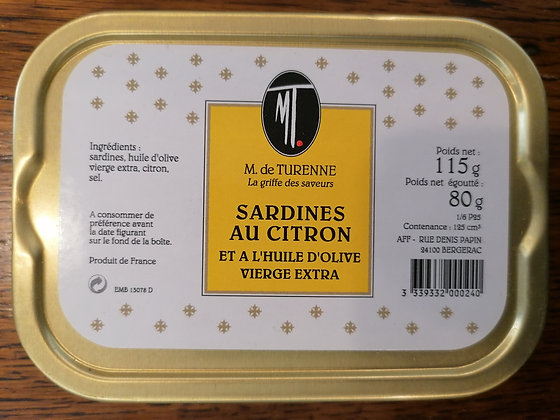 SARDINES WITH OLIVE OIL AND LEMON