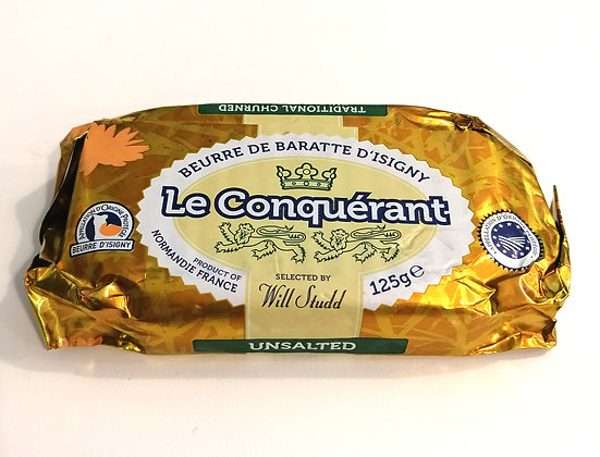 FRENCH BUTTER UNSALTED 125G