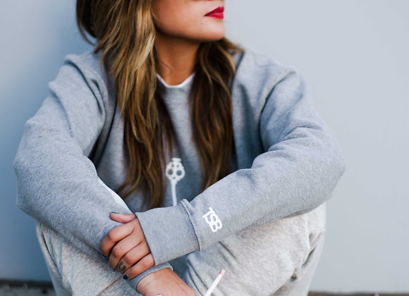 Affirmation Grey Crew Neck Sweater