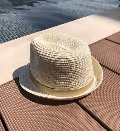 Children natural straw hat