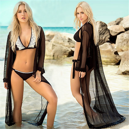 elegant long sheer kaftan