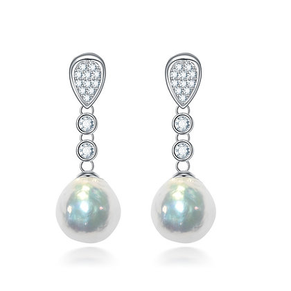 12mm Baroque Pearl Earrings