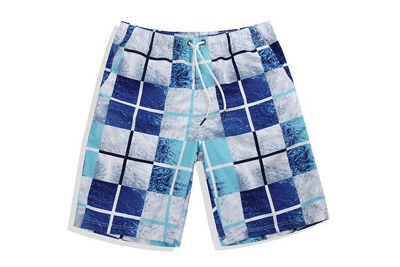 Square pattern men's trunks