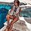 Thumbnail: White, gold & brown tribal swimsuit