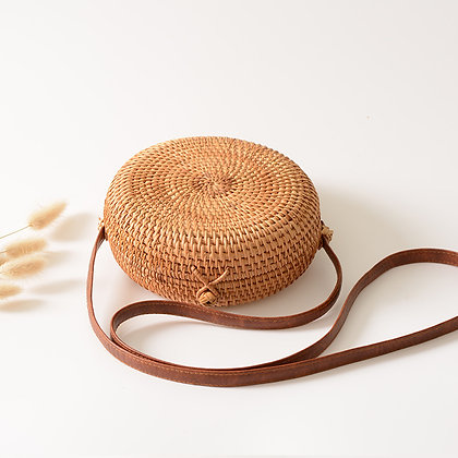 full moon rattan bag for women