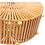 Thumbnail: Round bamboo bag with handle