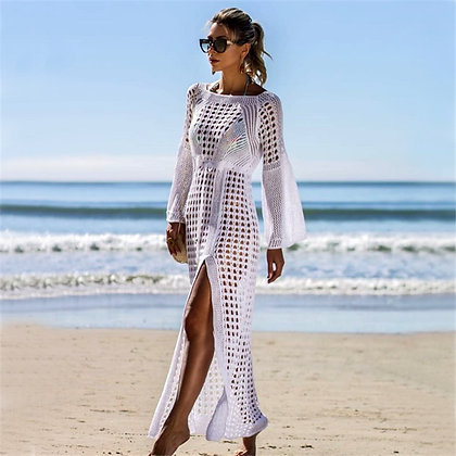stylish long sleeves kaftan with side split