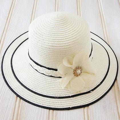 Elegant ladies hat with flower