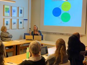 Anna Jarstad presenting Varieties of Peace Research Program at Umeå University