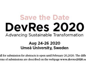 [POSTPONED] Call for papers and panels: DevRes 2020 – Advancing Sustainable Transformation
